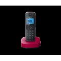 Радиотелефон DECT Panasonic KX-TGC310RU, черный с красным