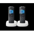 Радиотелефон DECT Panasonic KX-TGC312RU, 2 трубки, черный с белым