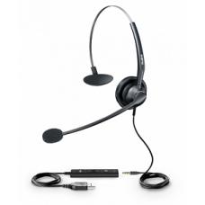Гарнитура UH33 для телефонов SIP-T41S/T42S/T46S/T48S/T53/T53W/T54W/T57W/T58A/VP59/T43U/T46U/T48U