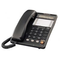 Проводной телефон KX-TS2365RU, ЖКД, спикерфон, черный