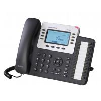 IP телефон GRANDSTREAM GXP-2124, SIP, 2 порта Ethernet 10/100/1000, PoE, HD audio, БП
