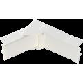 Угол внутренний/внешний изменяемый для кабель-канала 20х12,5 (белый), аналог Legrand 30221