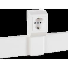 Суппорт с рамкой на 1 пост (45х45) вдоль профиля универсальный, аналог Legrand 30379