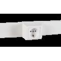 Суппорт с рамкой 1 пост (45х45) на профиль для кабель-канала 60х16, аналог Legrand 30377
