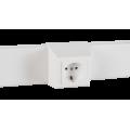 Суппорт с рамкой 1 пост (45х45) на профиль для кабель-канала 75х20, аналог Legrand 30378